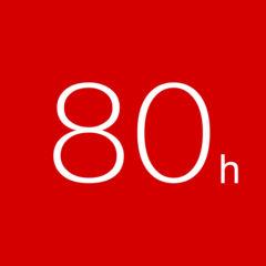 80h 残業労働時間を記録するタイムカードアプリ