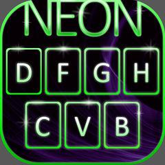 ネオンカラーキー - ポン引き きみの キーボードで とともに 輝くスキン、 かわいいフォント そして 絵文字