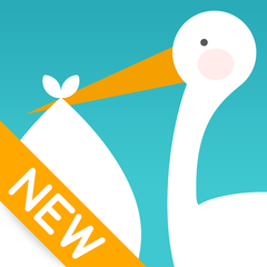 コウノトリが妊娠・妊活をサポート:排卵日・生理日から妊娠のタイミングを予測、基礎体温・グラフの管理もできる*無料*カップルアプリ