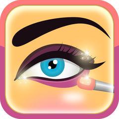 、素晴らしい唇目を構成する、頬紅と眉毛 - アプリメイクアップ